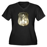 Town Drunk Women's Plus Size V-Neck Dark T-Shirt
