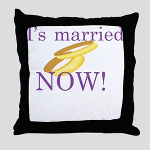 I's Married Throw Pillow