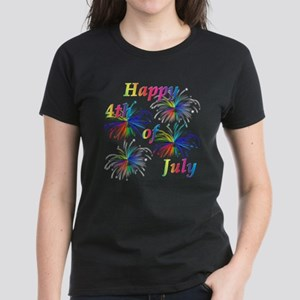 Happy 4th of July Women's Dark T-Shirt