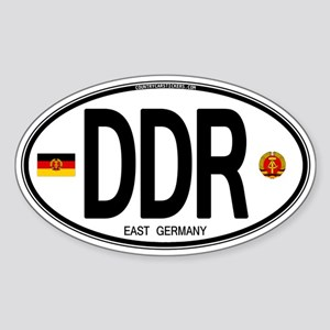 East Germany Euro Oval Oval Sticker