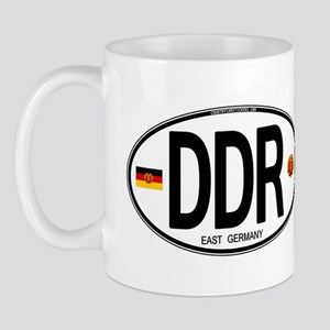East Germany Euro Oval Mug