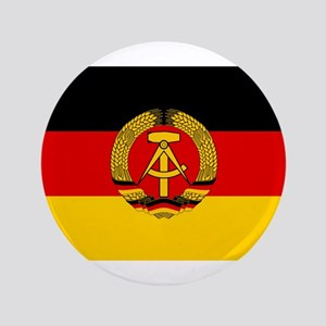 "Flag of East Germany 3.5"" Button (100 pack)"