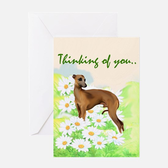 Italian Greyhound portrait Greeting Card