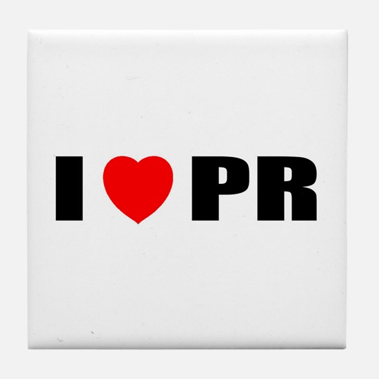 I Love PR Tile Coaster