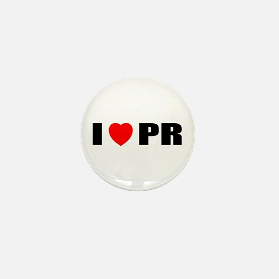 I Love PR Mini Button
