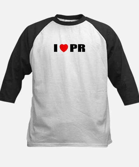 I Love PR Kids Baseball Jersey