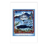 Watching Sea Life Postcards (Package of 8)