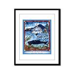 Watching Sea Life Framed Panel Print