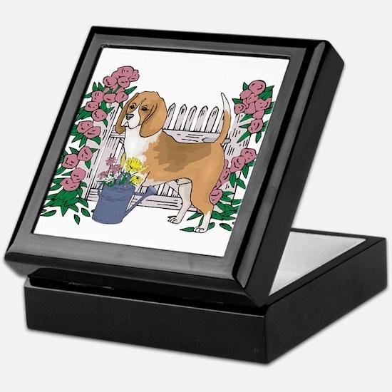 Summer Time Beagle Keepsake Box