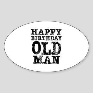 happy birthday old man stickers cafepress