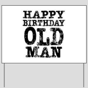 60th Birthday Mens Yard Signs