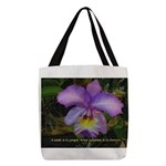 A Smile Polyester Tote Bag