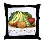 grow your veggies Throw Pillow