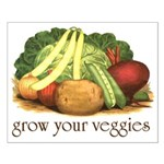 grow your veggies Small Poster