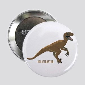 Velociraptor Dinosaur Name tag Buttons (10 pack)