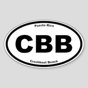 Crashboat Beach Oval Sticker