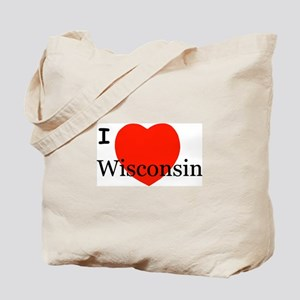 I Love Wisconsin! Tote Bag