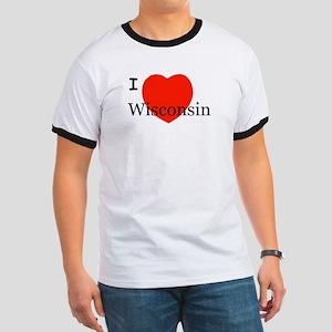 I Love Wisconsin! Ringer T
