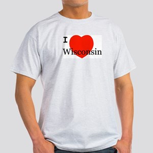 I Love Wisconsin! Light T-Shirt