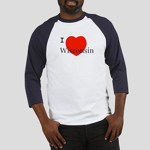 I Love Wisconsin! Baseball Jersey
