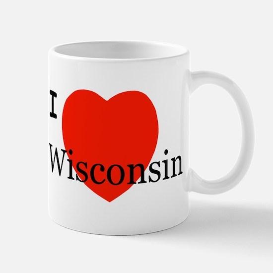 I Love Wisconsin! Mug