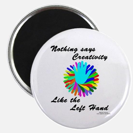 "Left Handed Creativity 2.25"" Magnet (100 pack)"