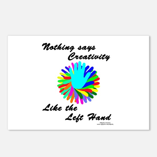 Left Handed Creativity Postcards (Package of 8)