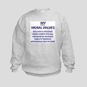 My Moral Values Kids Sweatshirt
