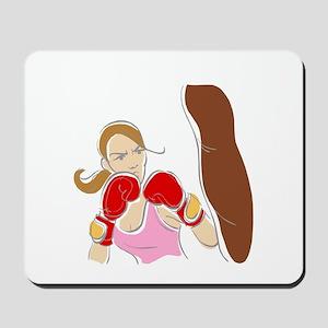 Angry Female Boxer Mousepad
