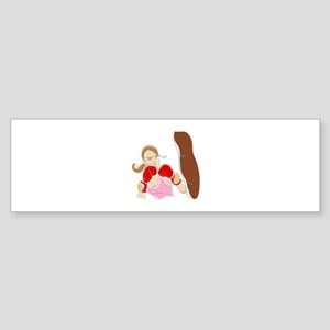 Angry Female Boxer Bumper Sticker