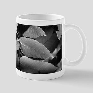 Black and White Leaves Mug