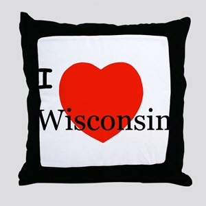 I Love Wisconsin! Throw Pillow