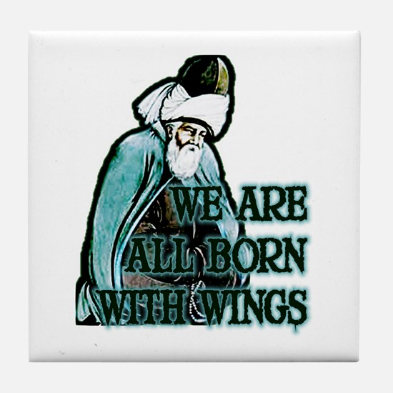 Born with Wings Tile Coaster