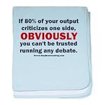 Debate Management baby blanket