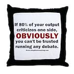 Debate Management Throw Pillow