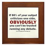 Debate Management Framed Tile