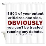 Debate Management Shower Curtain