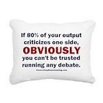 Debate Management Rectangular Canvas Pillow
