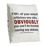 Debate Management Burlap Throw Pillow