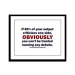 Debate Management Framed Panel Print