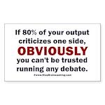 Debate Management Sticker (Rectangle)
