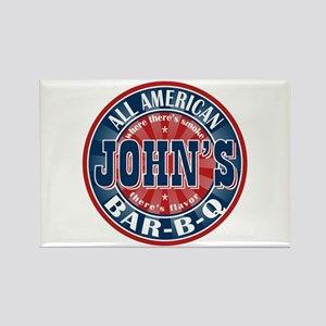 John's All American BBQ Rectangle Magnet
