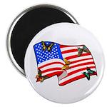 American Flag Butterflies Magnet