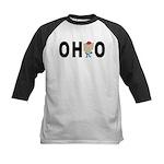 Cute Ohio Kids Baseball Jersey