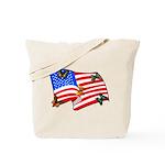 American Flag Butterflies Tote Bag