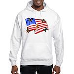 American Flag Butterflies Hooded Sweatshirt