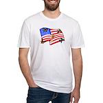 American Flag Butterflies Fitted T-Shirt