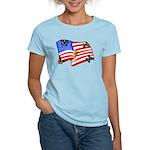 American Flag Butterflies Women's Light T-Shirt