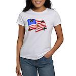 American Flag Butterflies Women's T-Shirt