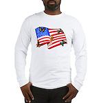 American Flag Butterflies Long Sleeve T-Shirt